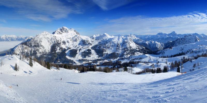 Ski resort panorama
